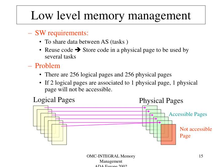 Low level memory management