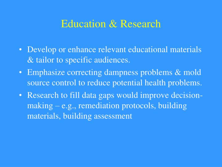 Education & Research