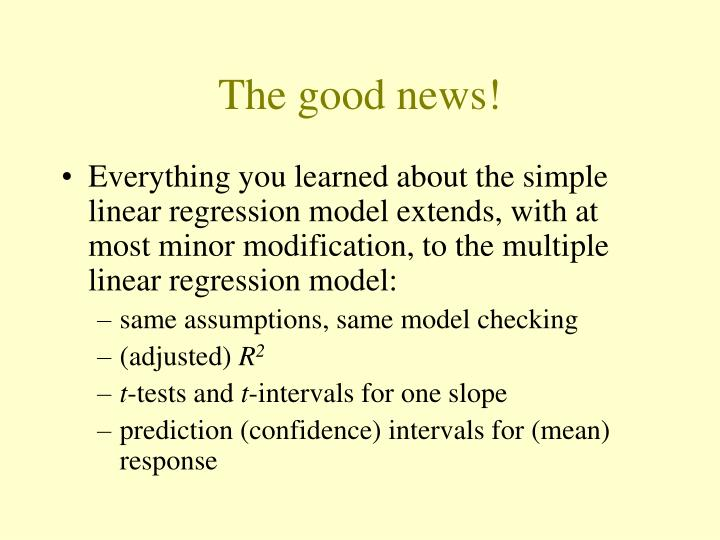 The good news!