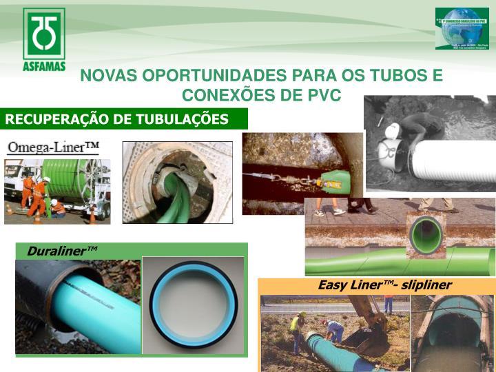 NOVAS OPORTUNIDADES PARA OS TUBOS E CONEXÕES DE PVC