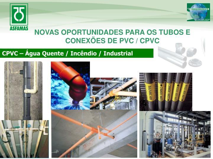 NOVAS OPORTUNIDADES PARA OS TUBOS E CONEXÕES DE PVC / CPVC