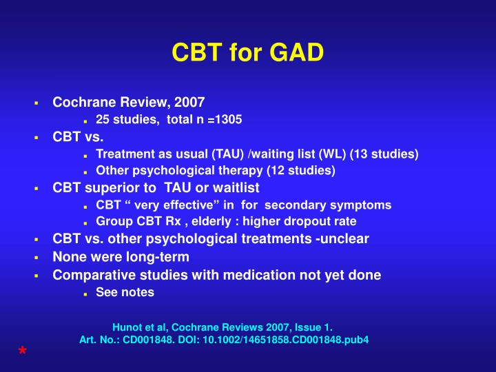 CBT for GAD