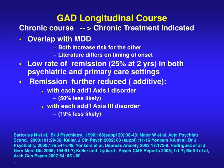 GAD Longitudinal Course