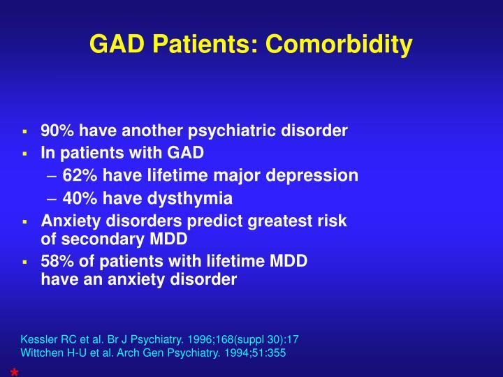 GAD Patients: Comorbidity