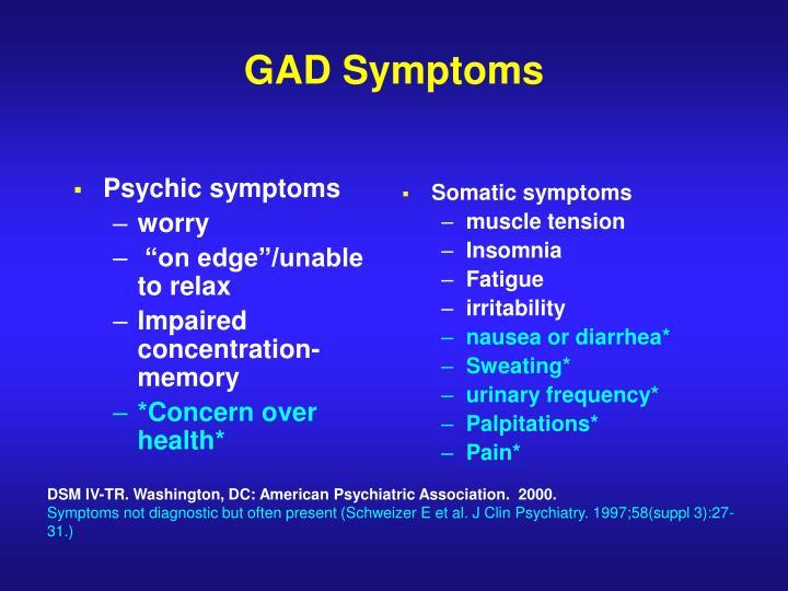 Psychic symptoms