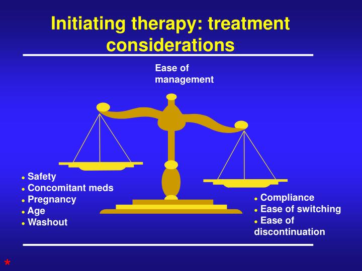 Initiating therapy: treatment considerations