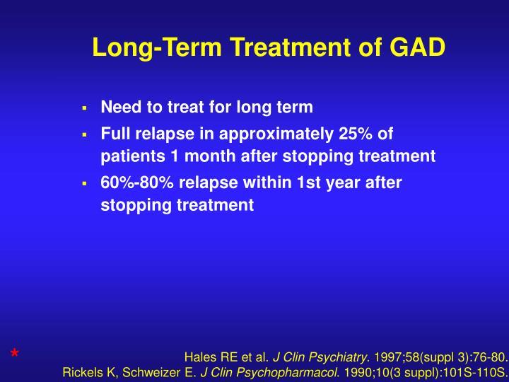 Long-Term Treatment of GAD