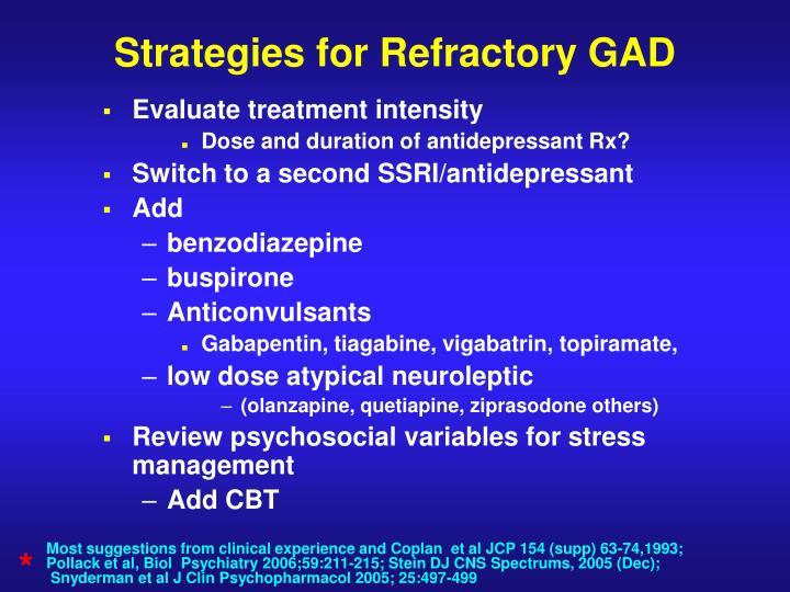 Strategies for Refractory GAD