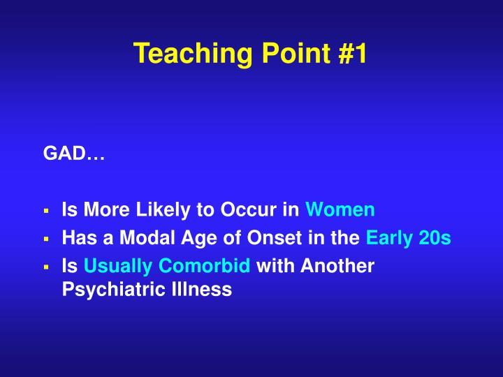 Teaching Point #1