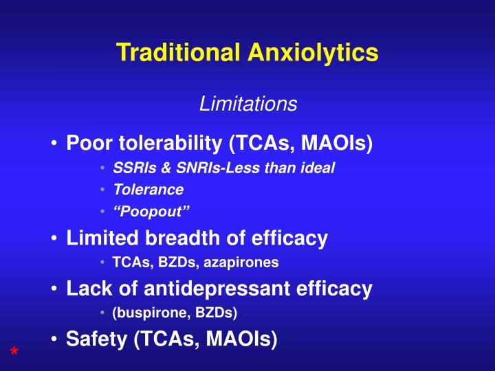 Traditional Anxiolytics