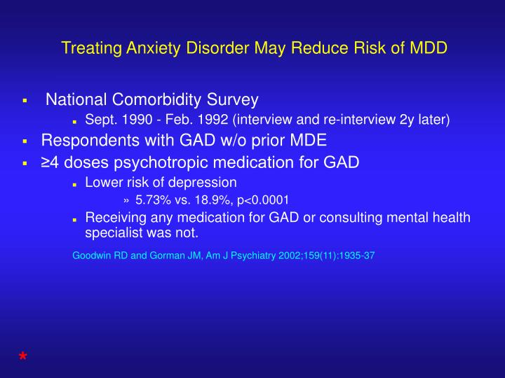 Treating Anxiety Disorder May Reduce Risk of MDD