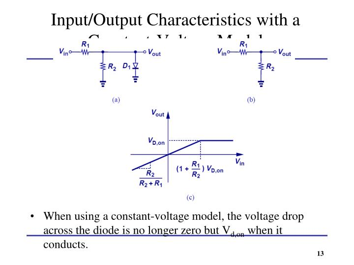 Input/Output Characteristics with a Constant-Voltage Model