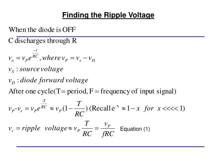 Equation (1)