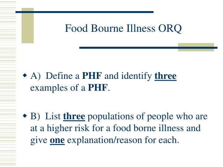 Food Bourne Illness ORQ