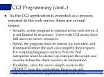 cgi programming cont