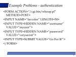 example problems authentication