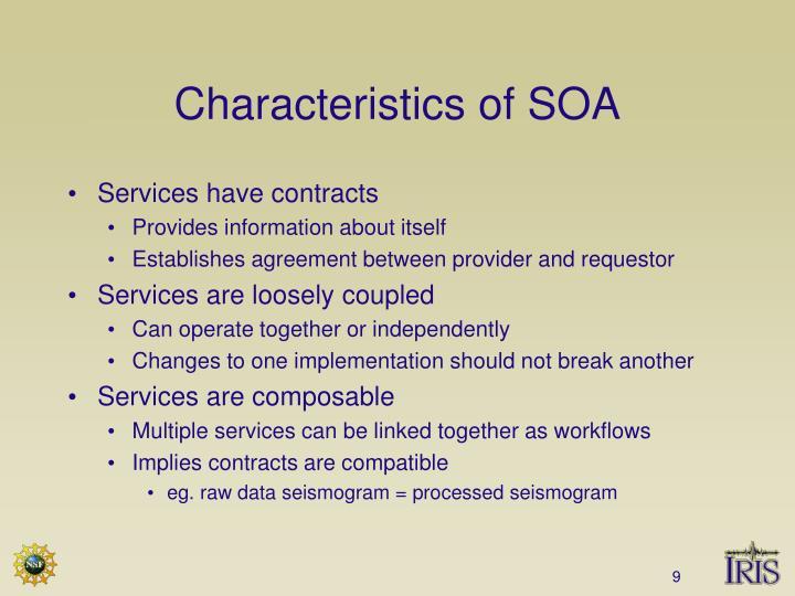 Characteristics of SOA