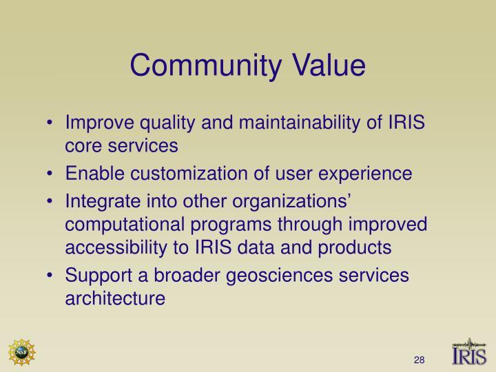 Community Value