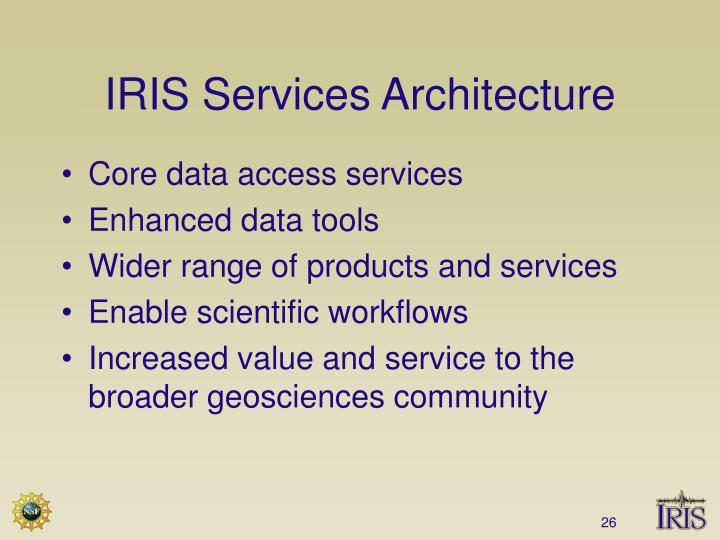 IRIS Services Architecture