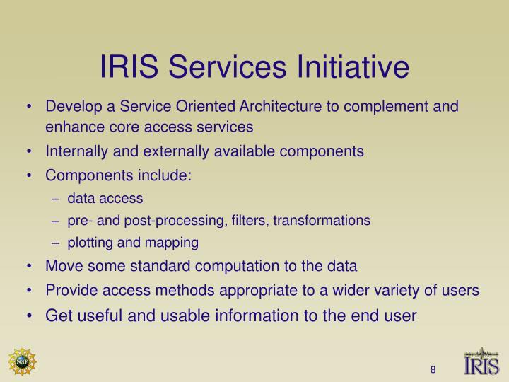 IRIS Services Initiative