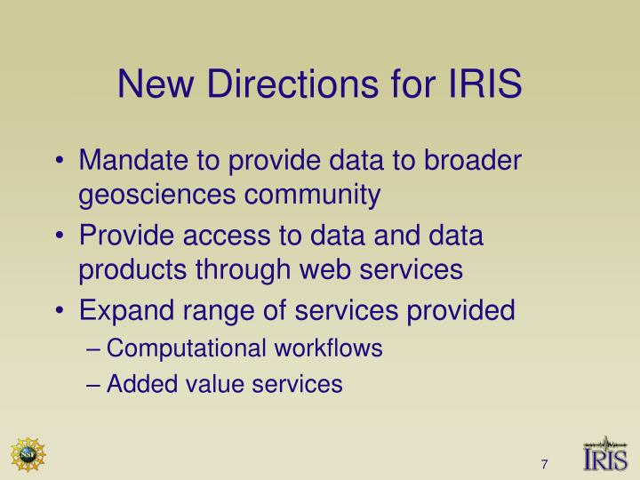 New Directions for IRIS