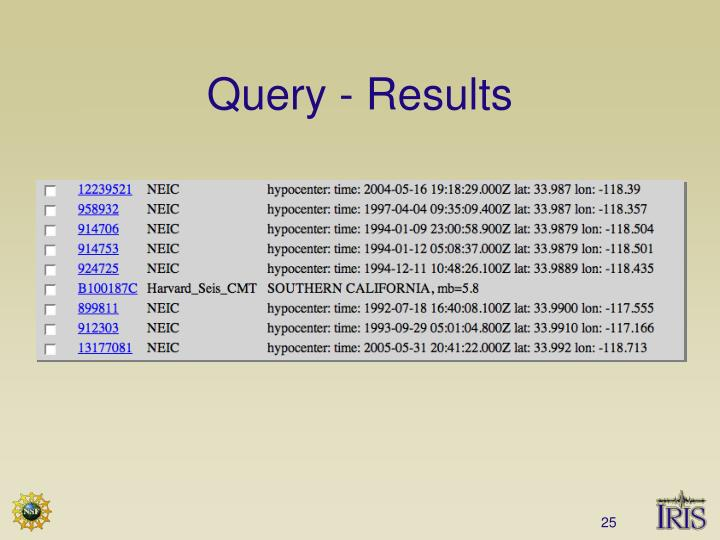 Query - Results