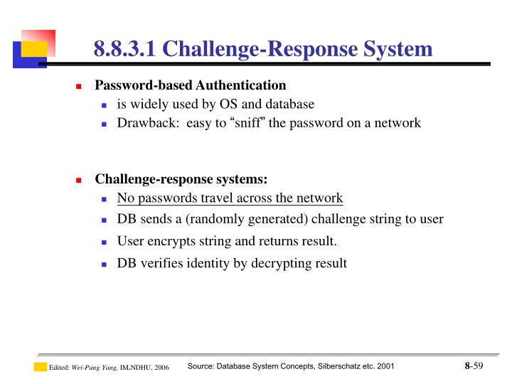 8.8.3.1 Challenge-Response System