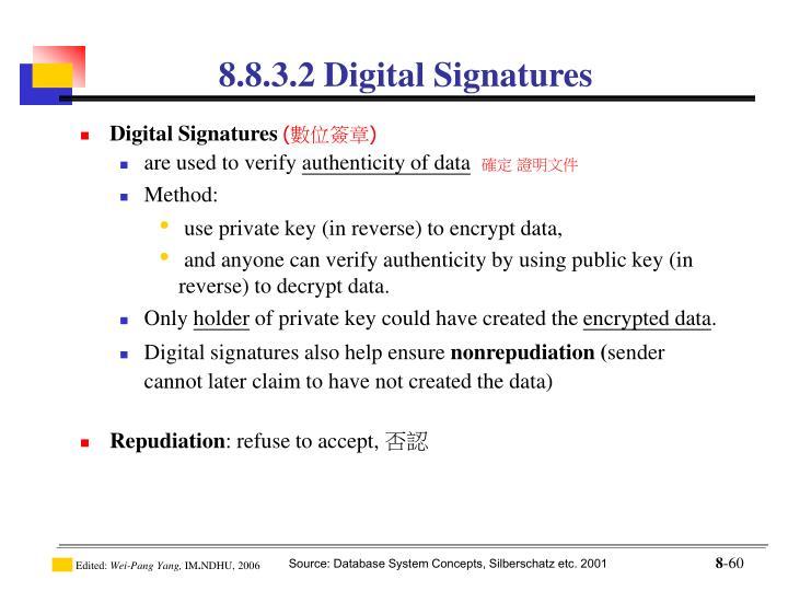 8.8.3.2 Digital Signatures
