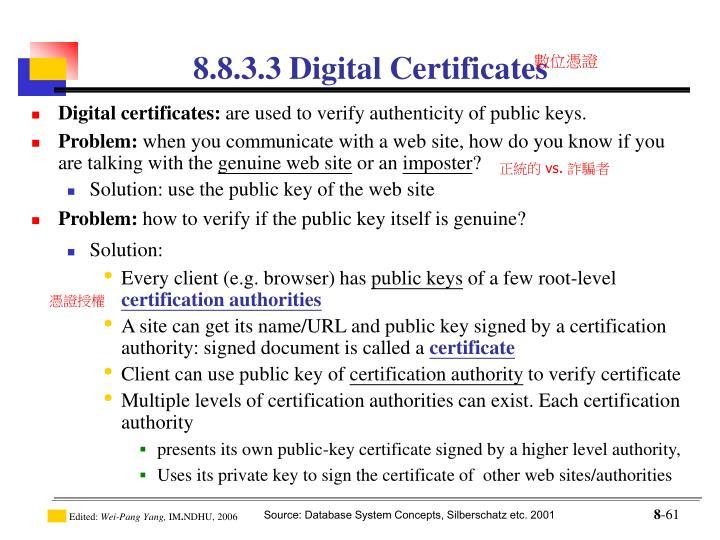 8.8.3.3 Digital Certificates