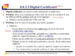 8 8 3 3 digital certificates