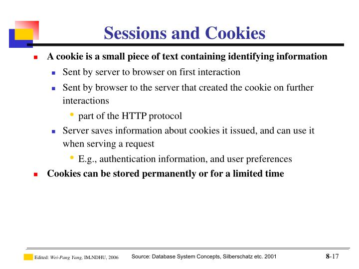 Sessions and Cookies