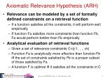 axiomatic relevance hypothesis arh