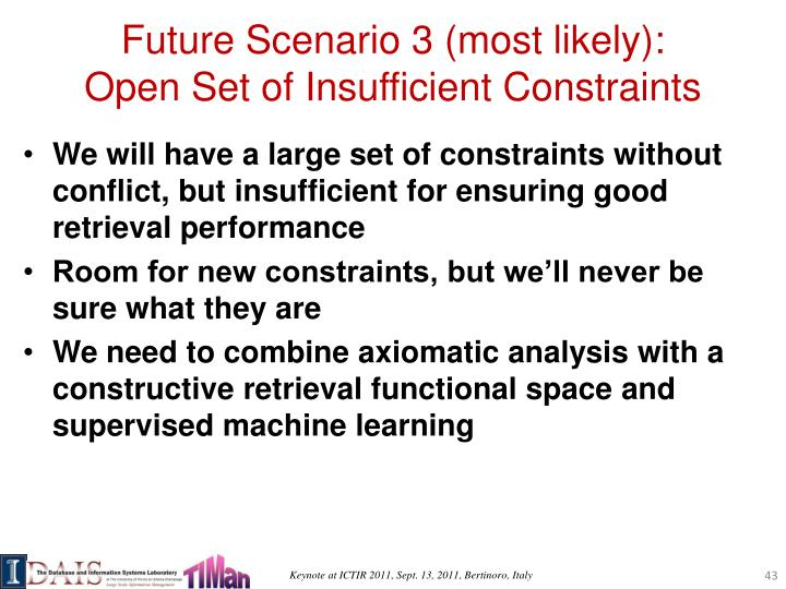 Future Scenario 3 (most likely):