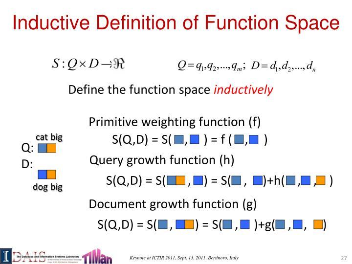 Primitive weighting function (f)