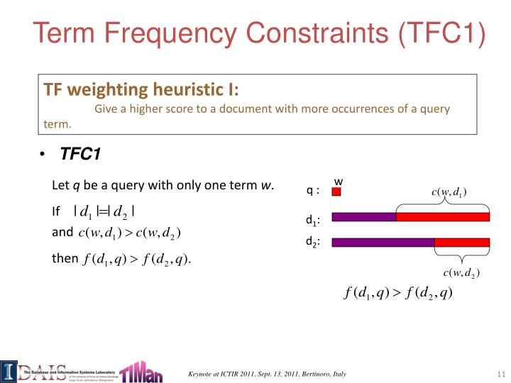 Term Frequency Constraints (TFC1)
