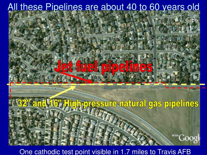 All these Pipelines are about 40 to 60 years old
