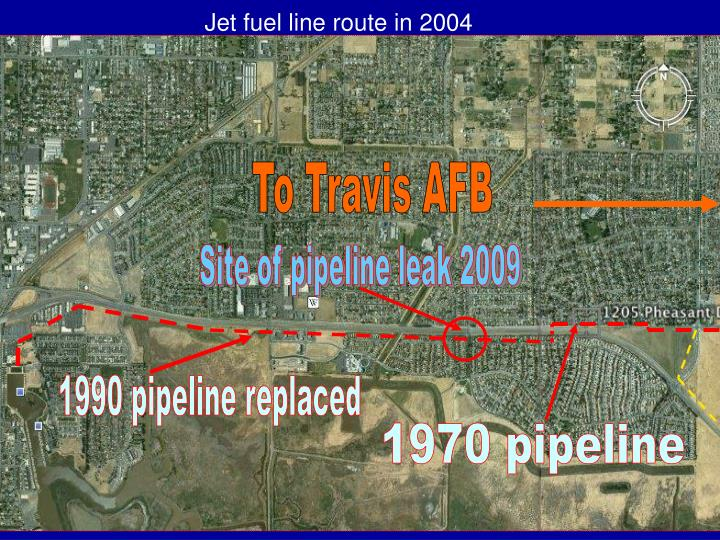 Jet fuel line route in 2004