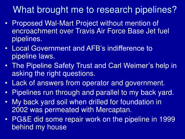 What brought me to research pipelines?