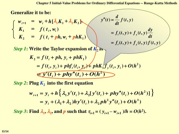 Chapter 5 Initial-Value Problems for Ordinary Differential Equations -- Runge-Kutta Methods