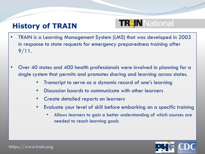 History of TRAIN