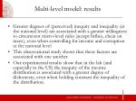 multi level model results