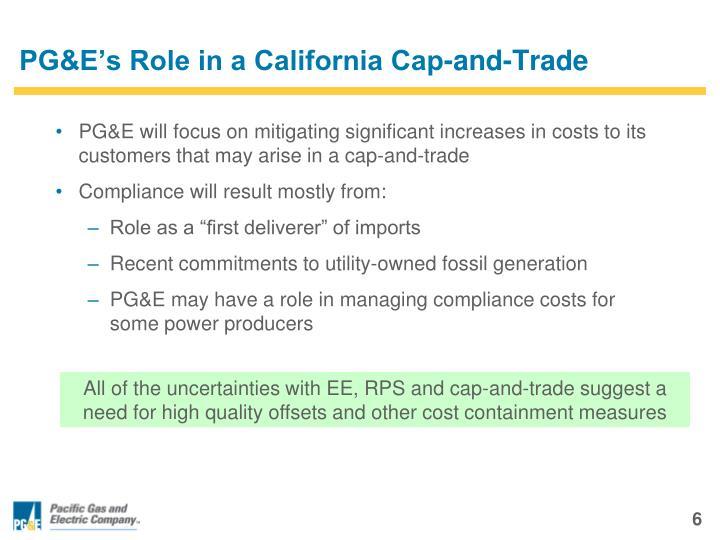 PG&E's Role in a California Cap-and-Trade