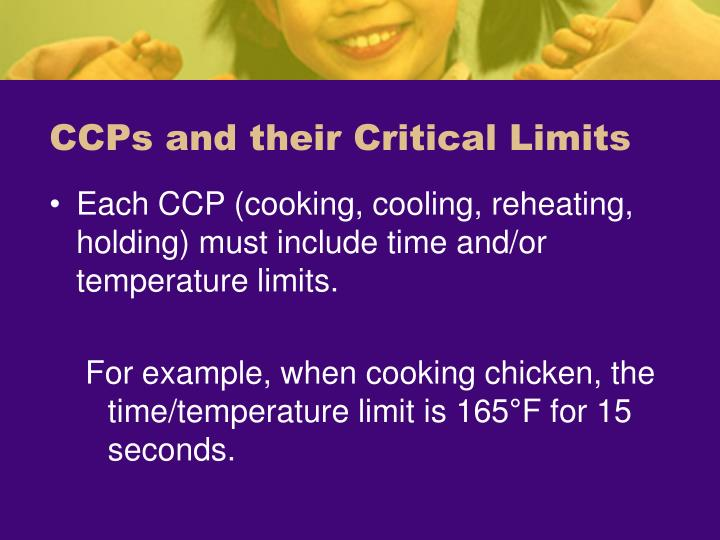 CCPs and their Critical Limits