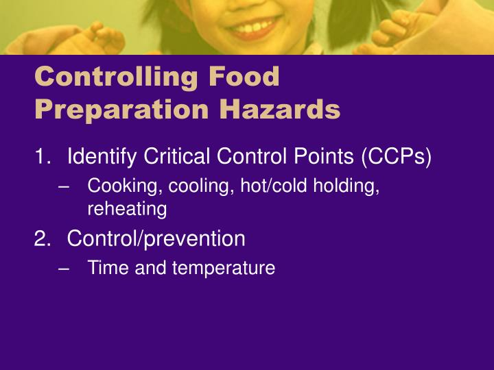 Controlling Food Preparation Hazards