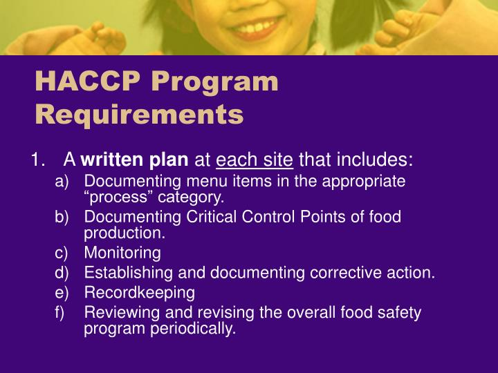 HACCP Program Requirements