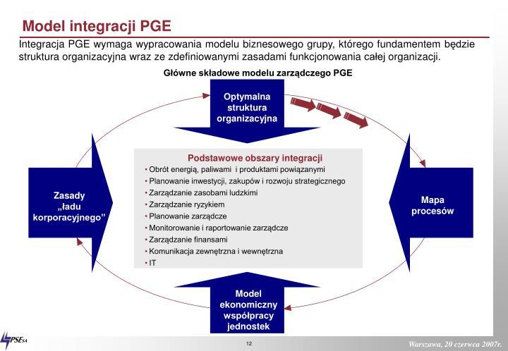 Model integracji PGE