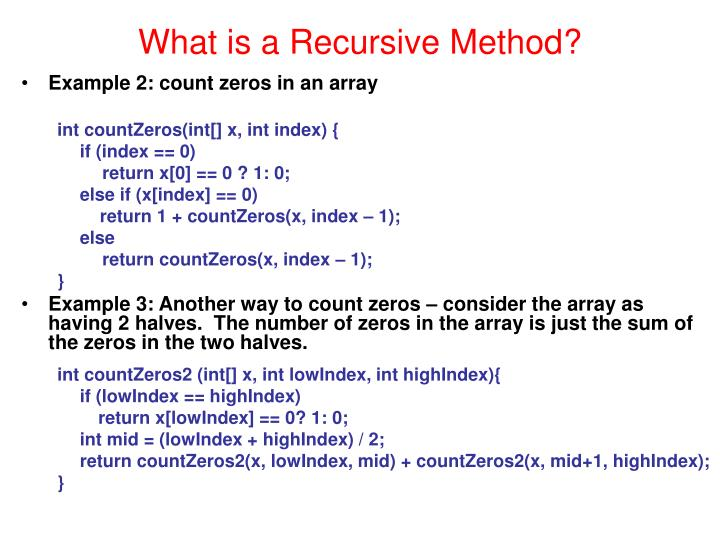 What is a recursive method1
