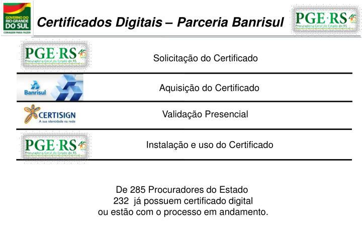 Certificados Digitais – Parceria Banrisul