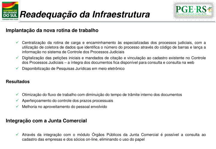 Readequação da Infraestrutura