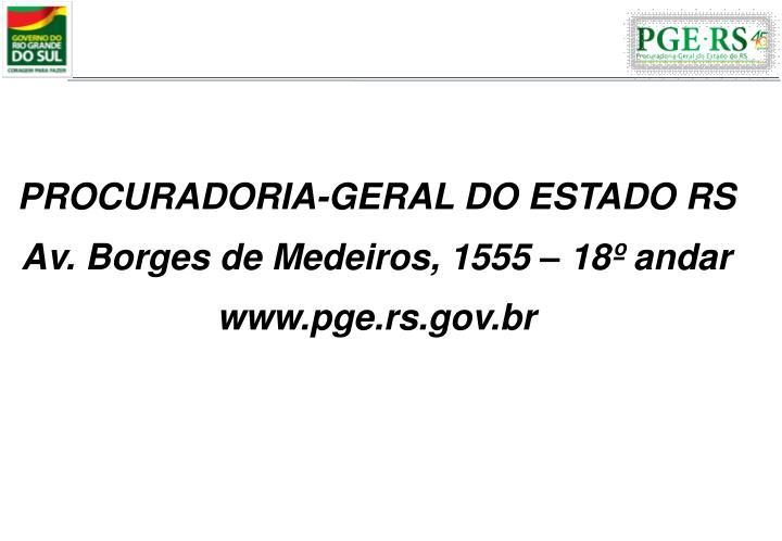 PROCURADORIA-GERAL DO ESTADO RS